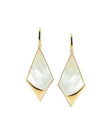 Satin Kite Drop Earrings