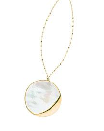 Large Satin Disc Pendant Necklace