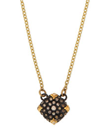 Old World Midnight Pav� Diamond Cushion Necklace