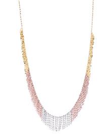 Three-Tone Fringe Necklace