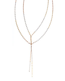 Blake Three-Tone Layered Necklace