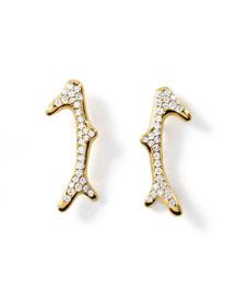 18K Glamazon Pav� Diamond Reef Earrings