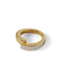 Mare Pavé Crystal Wrap Ring
