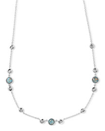 925 Rock Candy Hammered Turquoise-Station Necklace
