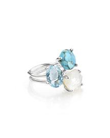 925 Rock Candy Three-Stone Ring in Harmony