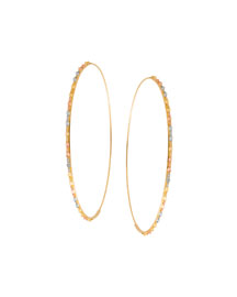 Glam Large Three-Tone Hoop Earrings