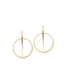 Small 14K Sheer Hoop Earrings