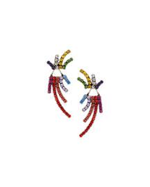 Willis Crystal Jacket Earrings, Multi