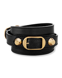 Classic Leather Wrap Bracelet
