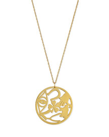 Eden Medallion Pendant Necklace with Diamond, 25
