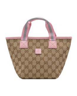 Gucci Girls GG Mini-Bag, Beige/Pink