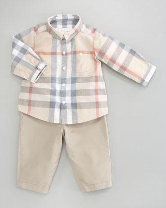 Pale Check Shirt, 3-24 Months
