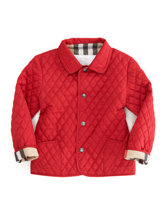 Red Quilted Mini Jacket, Sizes 12M-3Y