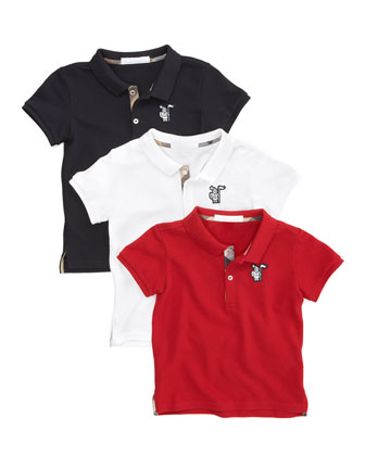 Short-Sleeve Polo, Military Red