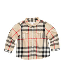 Long-Sleeve Check Shirt, New Classic