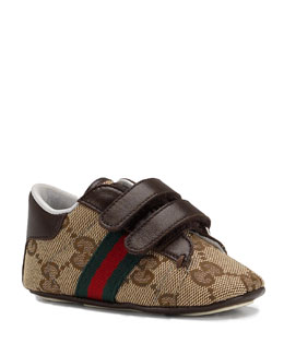 Gucci Ace Double-Strap Sneaker, Brown
