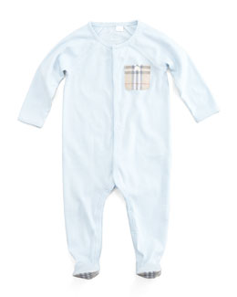 Burberry Check-Pocket Sleepsuit