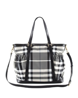 Burberry Beat Check Diaper Tote Bag