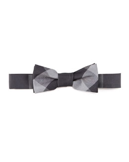 Burberry Beat Check Bow Tie, Black