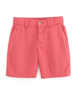 Ralph Lauren Childrenswear Preppy Saltwater Washed Shorts, Brick Red