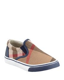 Navy Check Slip-On Sneaker, Kids' Sizes