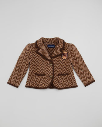 Herringbone Tweed Jacket, Brown, Sizes 9-24 Months