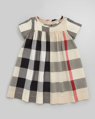 Giant-Check Dress, 12M-3Y