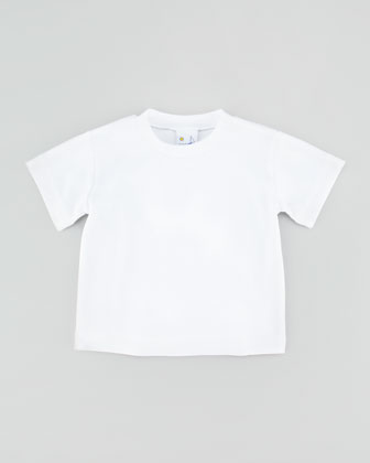 Interlock Short-Sleeve Tee, White, Sizes 12-24 Months