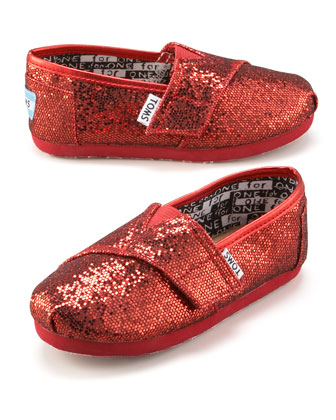 Red Glitter Shoe, Tiny