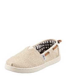 Burlap Bimini Youth Shoe, Natural