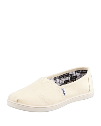 Classic Canvas Slip-On, Natural, Youth