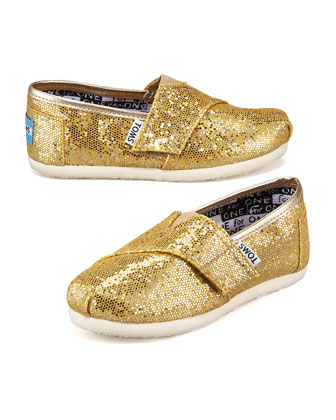 Gold Glitter Shoe, Tiny