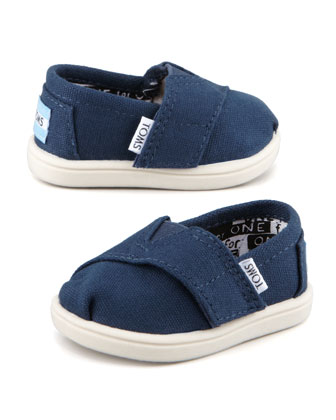 Classic Canvas Slip-On, Navy, Tiny