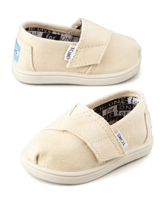 Classic Canvas Slip-On, Natural, Tiny