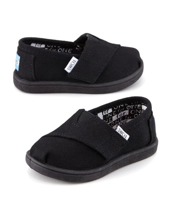 Classic Canvas Slip-On, Black, Tiny