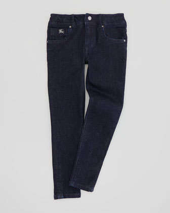 Girls' Dark Indigo Jeans, Sizes 4-10