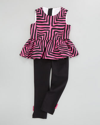 Ponti Leggings with Button Accents, Sizes 2-6