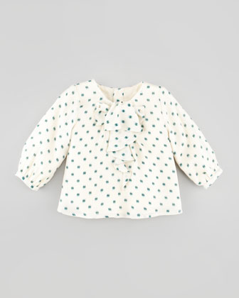 Printed Silk Blouse, 3-18 Months