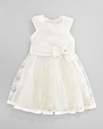 Antique Lace Dress, Ivory, Sizes 2Y-10Y