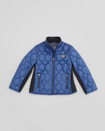 Lightweight Quilted Jacket, Blue, 2Y-8Y