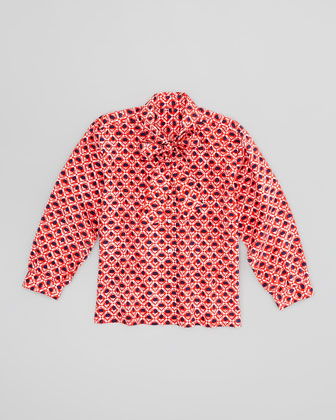 Girls' Multi-Use Blouse, Red, 4Y-10Y