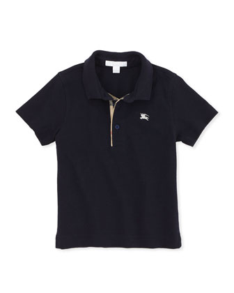 Check-Trim Polo, Navy, 4Y-10Y