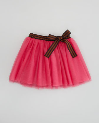 Girls' Zucca Tulle Skirt, Fuchsia, Sizes 6-9