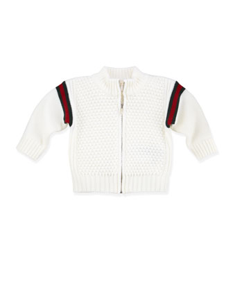 Web Zip-Front Jacket, White