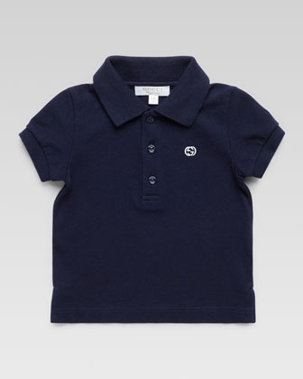 Short-Sleeve Knit Polo