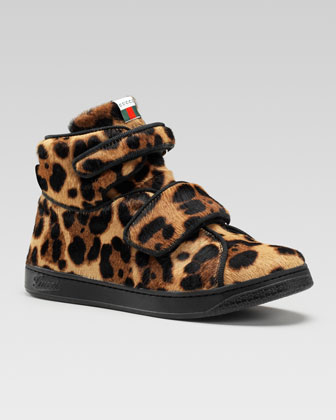 Bricklane Leopard-Print Calf Hair High-Top