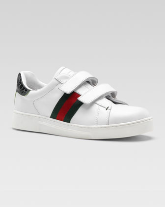 Ace Grip-Strap Leather Sneaker