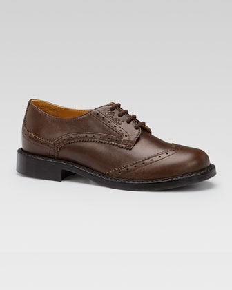 Acheronte Lace-Up Oxford, Cocoa