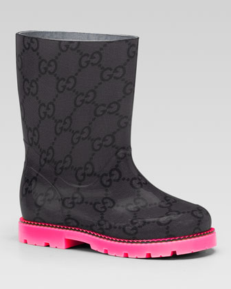 Edinburg GG Rain Boot, Pink/Black