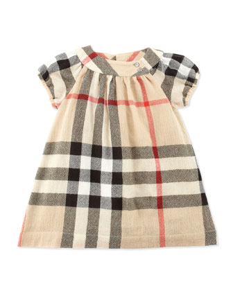 Check Crinkle-Knit Dress, 12-18 Months